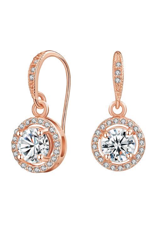 Mestige Rose Gold Liberty Earrings with Swarovski Crystals