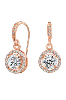 Mestige Rose Gold Liberty Earrings with Swarovski Crystals - 252992