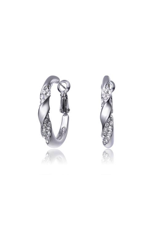 Mestige Nola Hoop Earrings with Swarovski Crystals