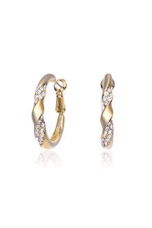 Mestige Gold Nola Hoop Earrings with Swarovski Crystals