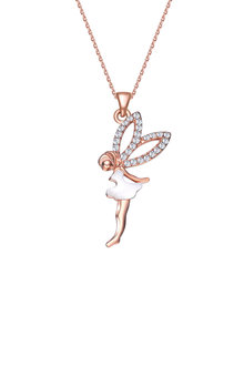 Mestige Rose Gold Fairy Dust Necklace with Swarovski Crystals - 253001