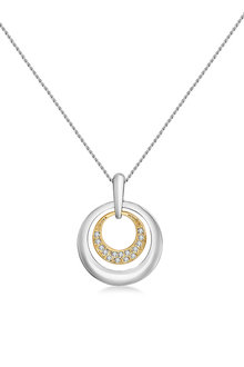 Mestige Reign Dual Gold Necklace with Swarovski Crystals - 253004