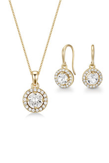 Mestige Golden Nylah Set with Swarovski Crystals - 253010