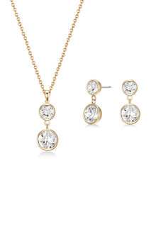 Mestige Golden Nyree Set with Swarovski Crystals - 253012