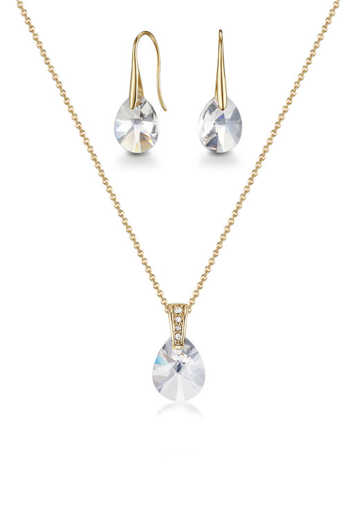 Mestige Golden Pascal Set with Swarovski Crystals
