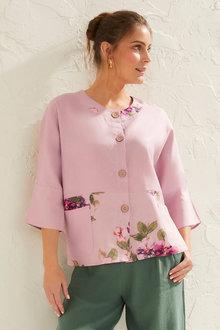 Capture Linen Blend Oversize Shirt - 253025