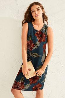 Capture Linen Blend Shift Dress - 253027