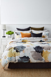 Splashes Slub Cotton Duvet Cover Set - 253033