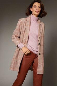 Grace Hill Check Linen Blend Blazer - 253036