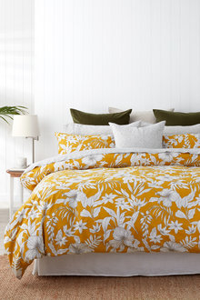 Tropical Slub Duvet Cover Set - 253040