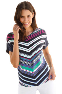Euro Edit Multi Colour Print Top - 253044
