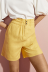 Emerge Linen Blend  Button Short