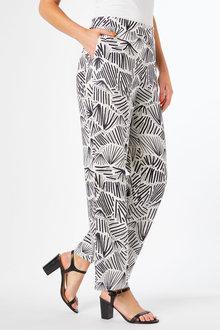 Emerge Linen Blend Wide Leg Pant - 253124