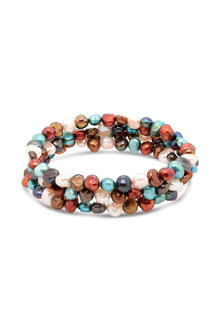 Fairfax & Roberts Pearl Memory Wire Bracelet - 253167