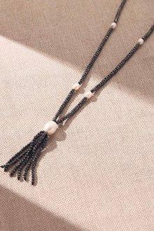 Fairfax & Roberts Pearl Haematite Tass Necklace - 253170
