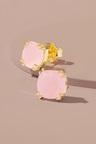 Fairfax & Roberts Real Gemstone Cushion Studs