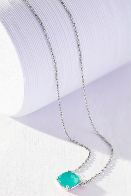 Fairfax & Roberts Real Gemstone Cushion Necklace