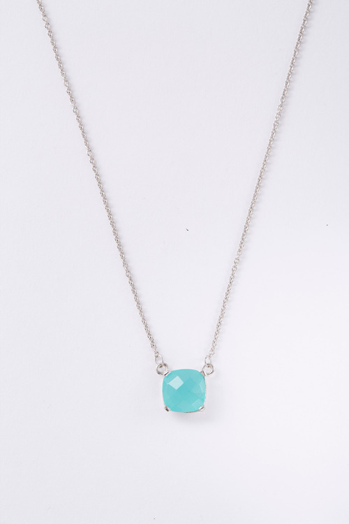 Fairfax & Roberts Real Gemstone Cushion Necklace