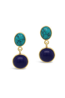 Fairfax & Roberts Gemstone Double Drop Earrings - 253213