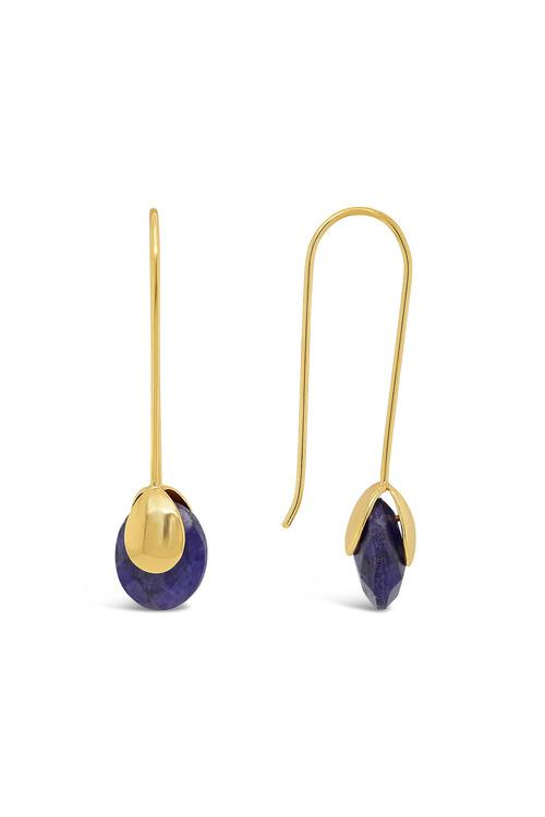 Fairfax & Roberts Real Gemstone Bud Earrings