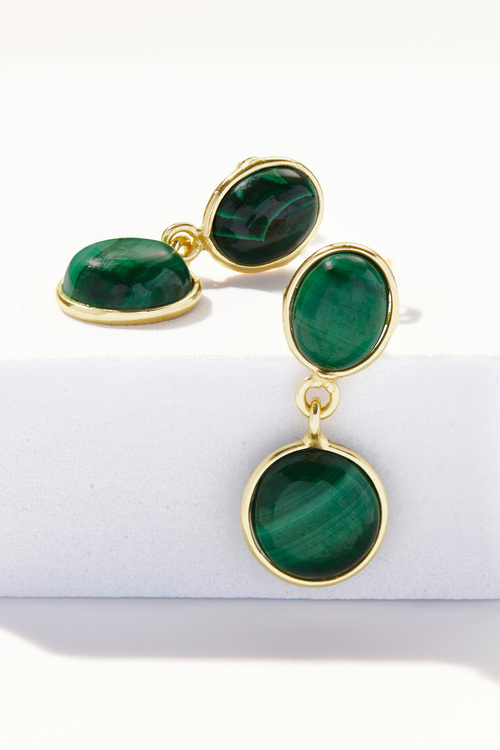 Fairfax & Roberts Gemstone Double Drop Earrings
