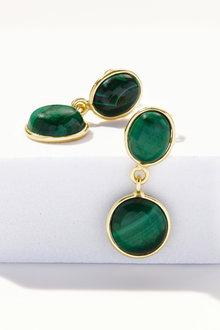 Fairfax & Roberts Gemstone Double Drop Earrings - 253219