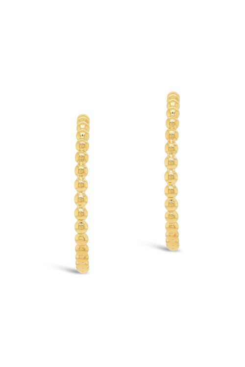 Fairfax & Roberts Beaded Half Hoop Earrings