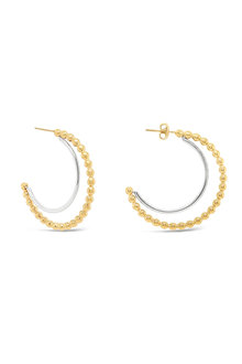 Fairfax & Roberts Beaded Half Hoop Earrings - 253221