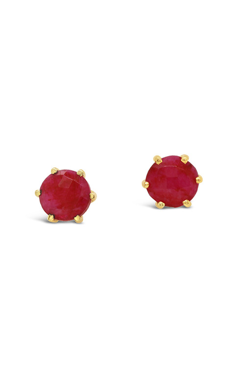 Fairfax & Roberts Real Gemstone Stud Earring