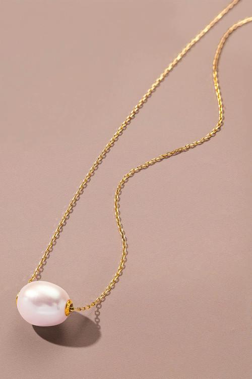 Fairfax & Roberts Pearl Slider Necklace