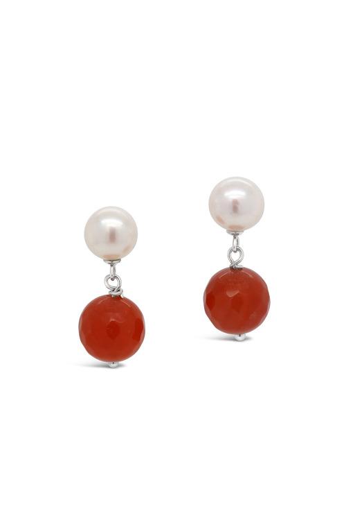 Fairfax & Roberts Pearl & Agate Drop Earring