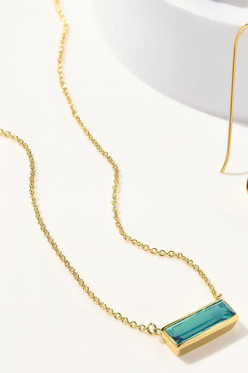 Fairfax & Roberts Real Gemstone Bar Necklace
