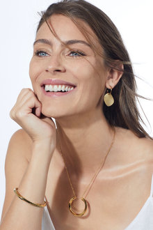Fairfax & Roberts Disk Pendant Hoop Earrings - 253237
