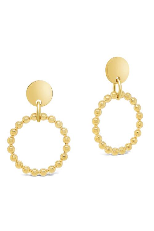 Fairfax & Roberts Beaded Round Drop Earrings