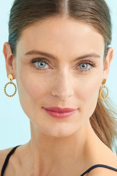 Fairfax & Roberts Beaded Round Drop Earrings