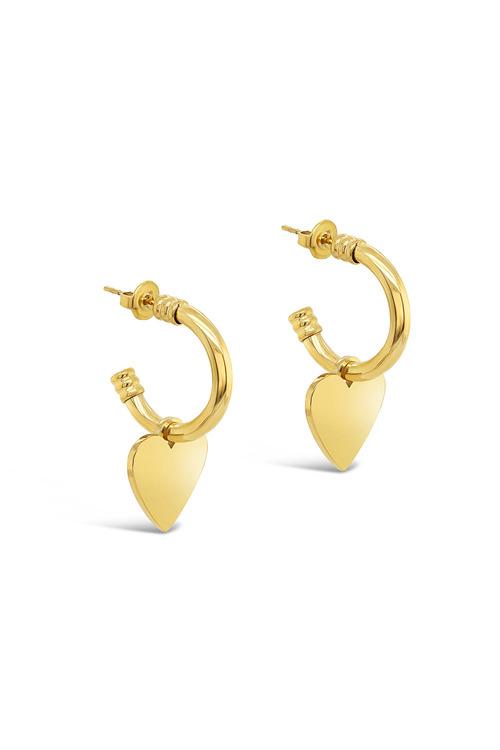 Fairfax & Roberts Contemporary Heart Earrings