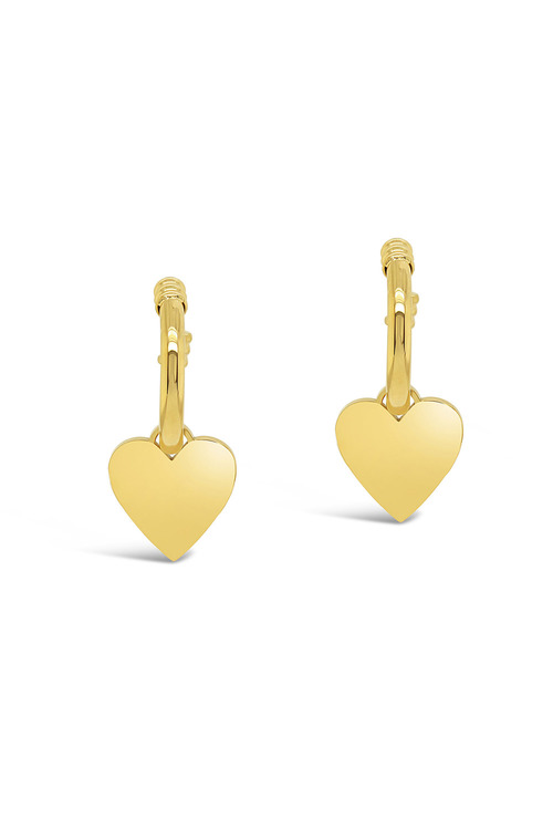 By Fairfax & Roberts Contemporary Heart Earrings