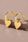 Fairfax & Roberts Contemporary Heart Earrings
