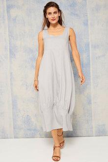 Grace Hill Linen Blend Cocoon Midi Dress - 253258