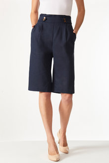 Grace Hill Linen Blend Tailored Short - 253263