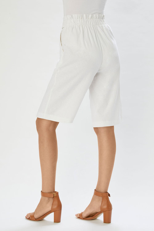 Grace Hill Linen Blend Tailored Short
