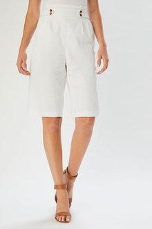 Grace Hill Linen Blend Tailored Short - 253263