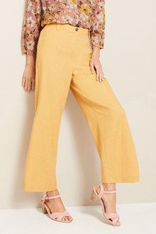 Grace Hill Linen Button Detail Culottes - 253267