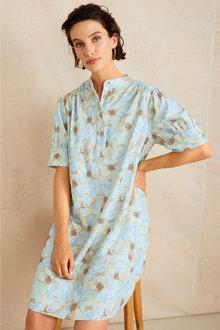 Grace Hill Linen Blend Tunic Dress - 253269