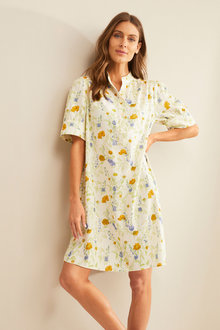 Grace Hill Linen Blend Tunic Dress - 253269