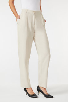 Grace Hill Linen Blend Straight Leg Pant - 253270