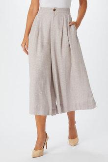 Grace Hill Linen Culotte - 253271