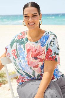 Sara Chiffon Overlay Top - 253285