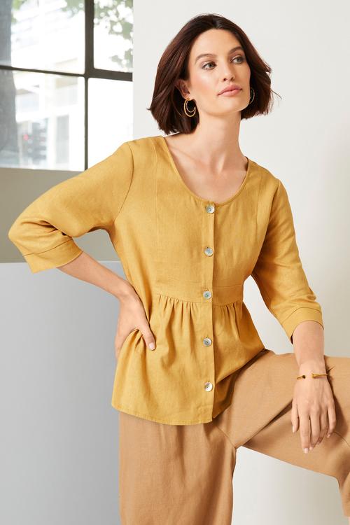 Grace Hill Linen Shirt Jacket