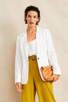 Grace Hill Linen Blend Blazer - 253304